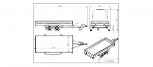 CP350-DLBH/2100kg (hitsattu) EC0159AK [Kuvat ovat havainnollistavia ja kuvien vaunut saattavat sisältää lisävarusteita]